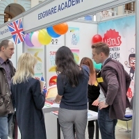 """Moscow International fair """"Education and Career"""": Education Abroad, Foreign Languages. Photo 21."""