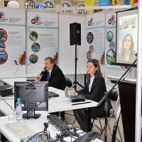 """Moscow International fair """"Education and Career"""": Teleconference. Photo 2."""